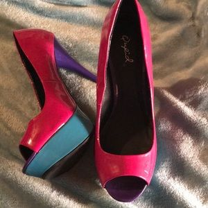 Qupid platform heel shoes